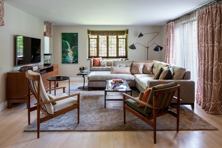eclectic Living room by Roselind Wilson Design