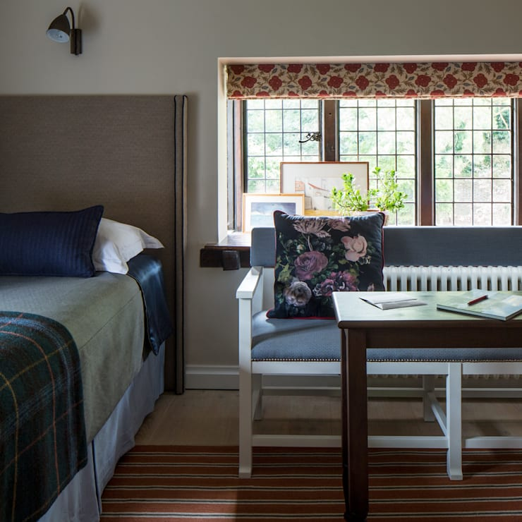 eclectic Bedroom by Roselind Wilson Design