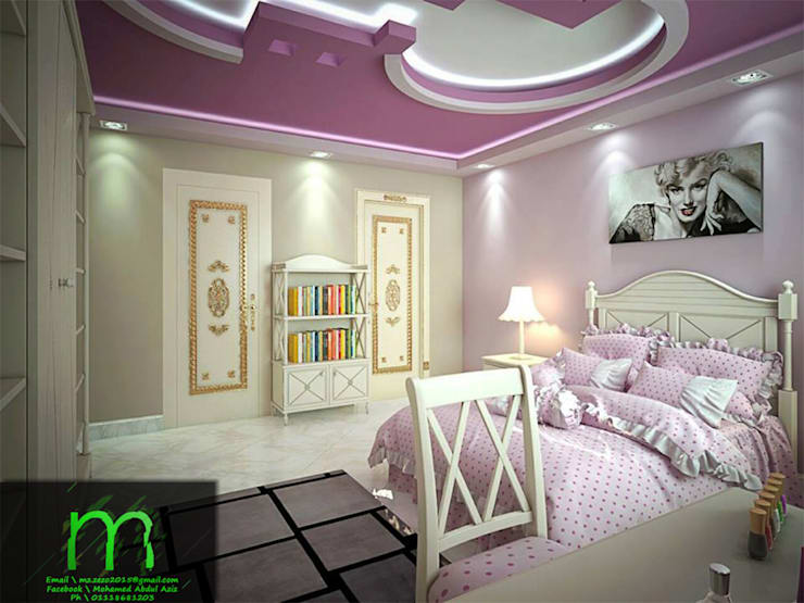 bedroom:  غرفة نوم تنفيذ EL Mazen For Finishes and Trims
