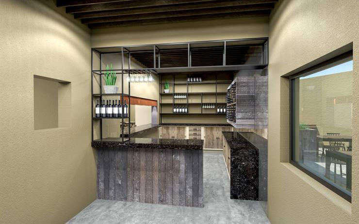 MINA-520: Restaurantes de estilo  por Indigo Arquitectos