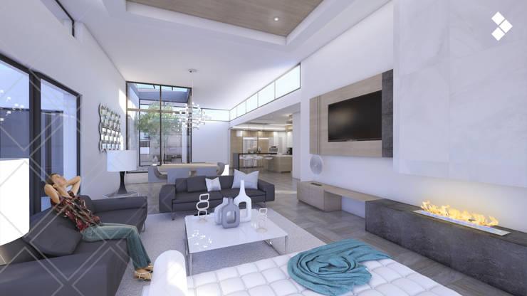 Sala de estar: Salas de estilo  por CDR CONSTRUCTORA
