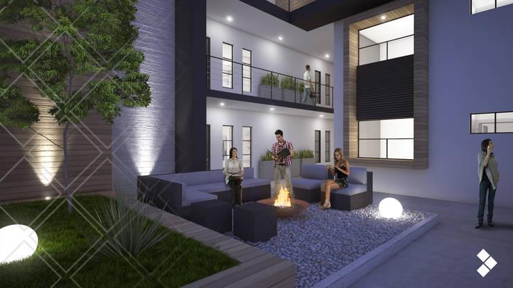 Proyecto CG: Pasillos y recibidores de estilo  por CDR CONSTRUCTORA
