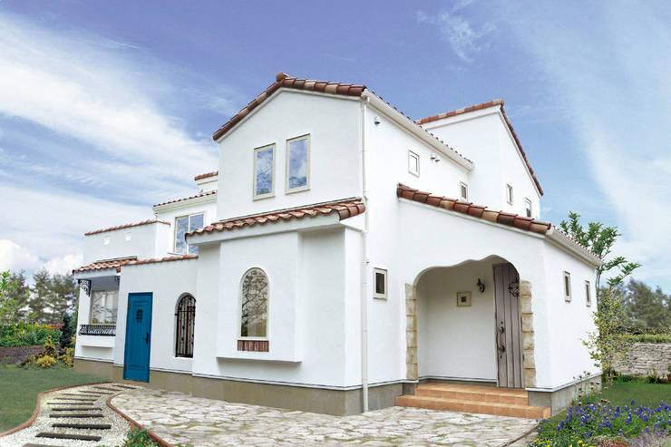 Houses by 주식회사 인듀어홈 코리아, Mediterranean Limestone