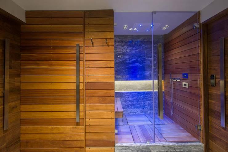 Remodelación Departamento Frondoso, CDMX.: Baños de estilo  por Art.chitecture, Taller de Arquitectura e Interiorismo 📍 Cancún, México.