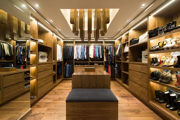 Remodelación Departamento Frondoso, CDMX.: Vestidores y closets de estilo  por Art.chitecture, Taller de Arquitectura e Interiorismo 📍 Cancún, México.