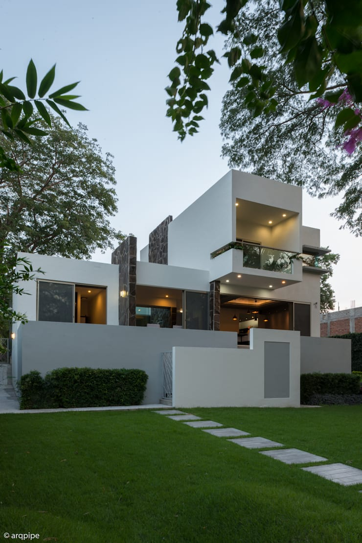 Houses by LUIS GRACIA ARQUITECTURA + DISEÑO, Modern Stone