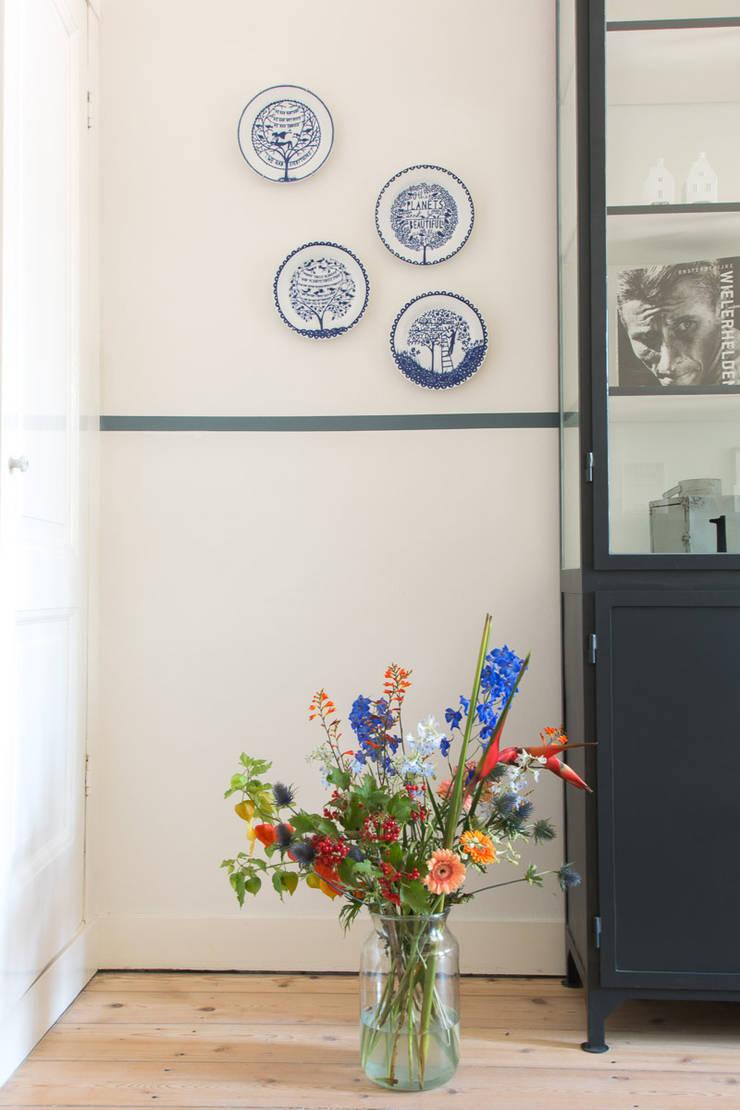 Interieurontwerp herenhuis Utrecht:  Eetkamer door Studio Binnen, Scandinavisch