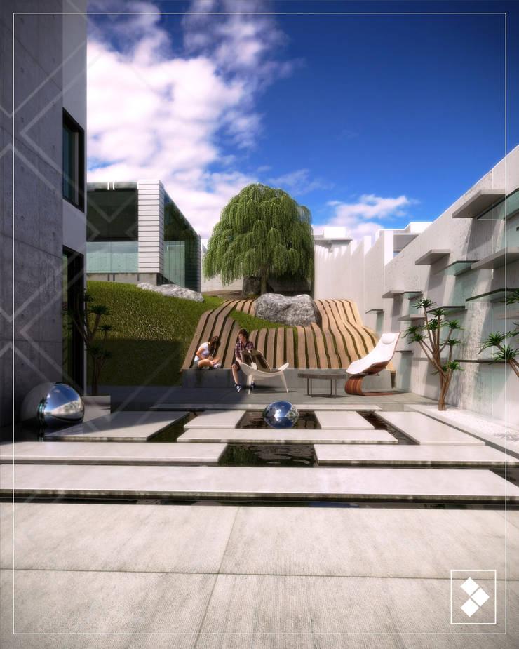 Jardín: Jardines de estilo  por CDR CONSTRUCTORA