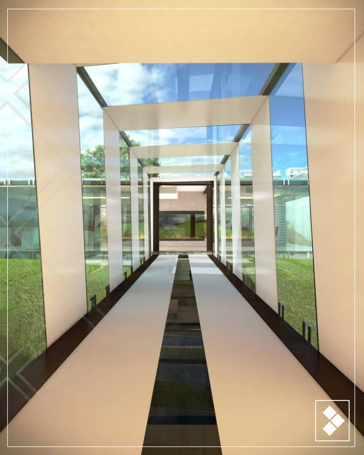 Pasillo: Pasillos y recibidores de estilo  por CDR CONSTRUCTORA
