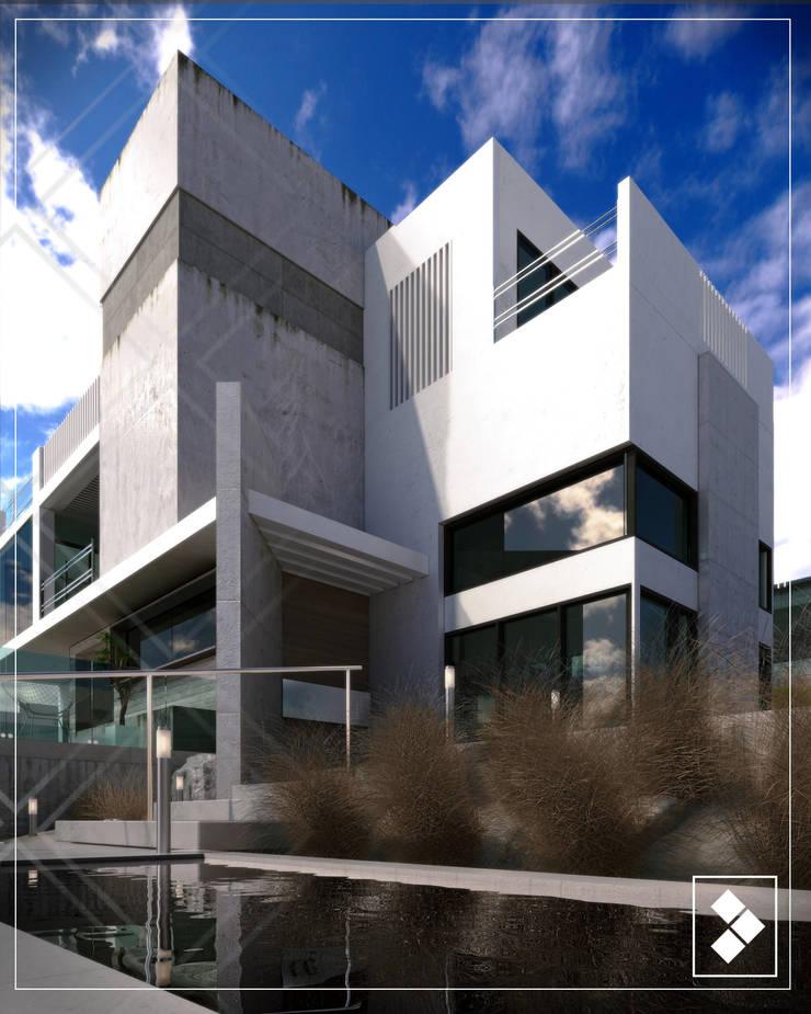 Fachada lateral: Casas de estilo  por CDR CONSTRUCTORA