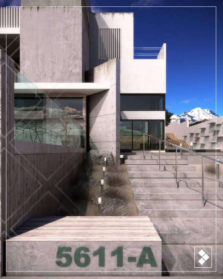 Fachda Interior: Casas de estilo  por CDR CONSTRUCTORA