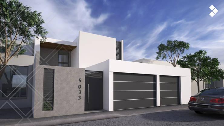 Fachada principal: Casas de estilo  por CDR CONSTRUCTORA