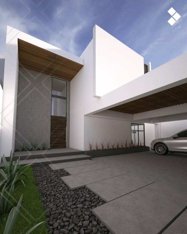 Fachada interior: Casas de estilo  por CDR CONSTRUCTORA