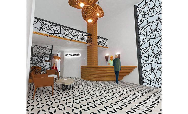MAHAL MİMARLIK – Samir Hotel - Lobi Tasarımı:  tarz Oteller, Modern