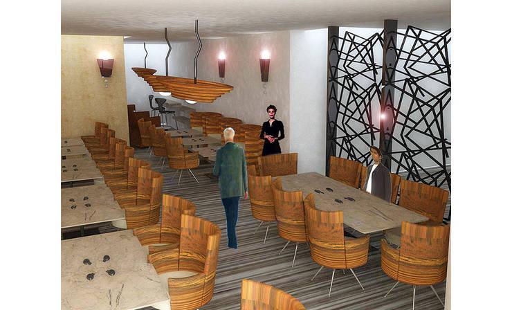 MAHAL MİMARLIK – Samir Hotel - Restaurant Tasarımı:  tarz Oteller, Modern