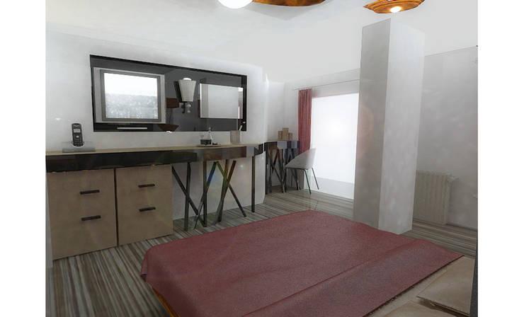 MAHAL MİMARLIK – Samir Hotel - Oda Tasarımı:  tarz Oteller, Modern