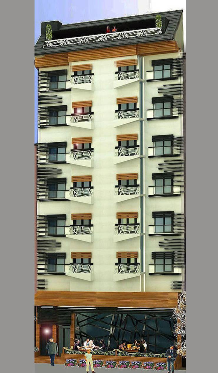 MAHAL MİMARLIK – Samir Hotel - Dış Cephe Tasarımı:  tarz Oteller, Modern