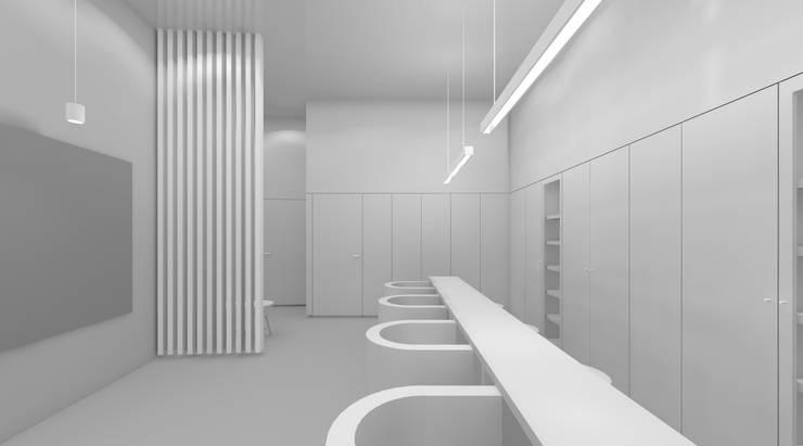estudo 3D: Lojas e espaços comerciais  por AR arquitectura