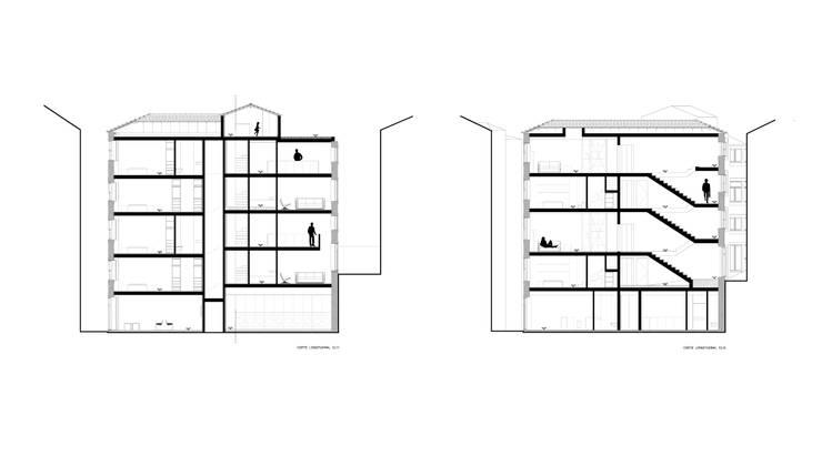 cortes : Paredes  por AR arquitectura
