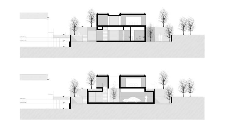 cortes transversais: Paredes  por AR arquitectura