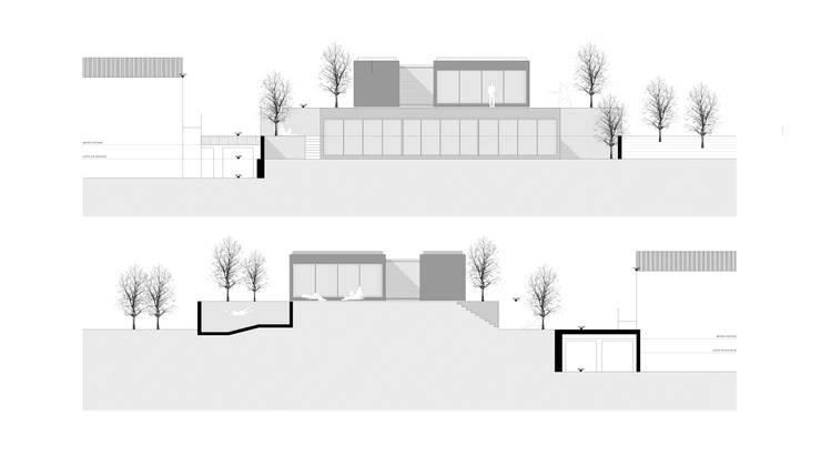 alçados: Paredes  por AR arquitectura