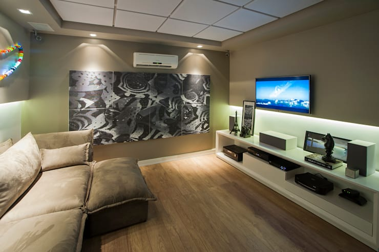 Oficinas y Tiendas de estilo  por Cris Nunes Arquiteta