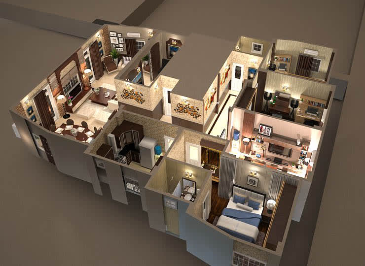 Apartment :  منازل تنفيذ Taghred elmasry