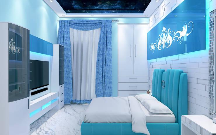 Aqua Bedroom 3D Design 1:  Bedroom by Yagotimber.com