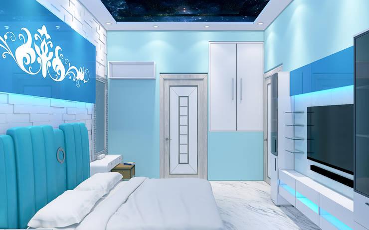 Aqua Bedroom 3D Design 3:  Bedroom by Yagotimber.com
