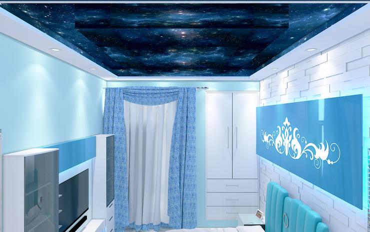 Aqua Bedroom 3D Design 4: modern  by Yagotimber.com,Modern