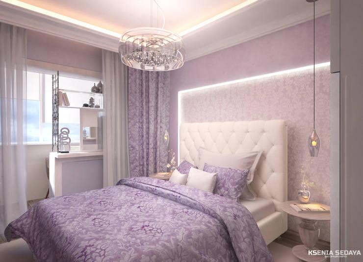 غرفة نوم تنفيذ Студия Ксении Седой