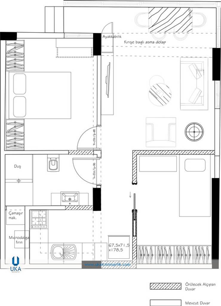 minimalistic Living room by Uka İçmimarlık