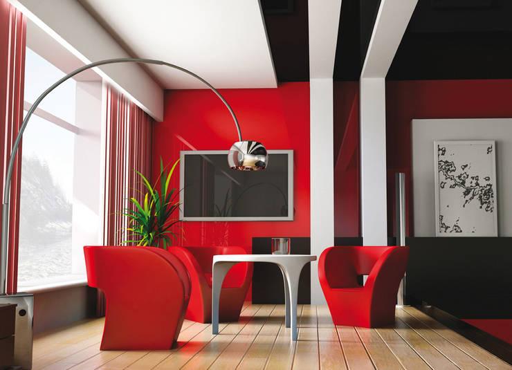 DuraGloss está disponible en cantos bicolor (aluminio + color) para cada color o diseño de la colección.: Oficinas de estilo  por FORMICA Venezuela