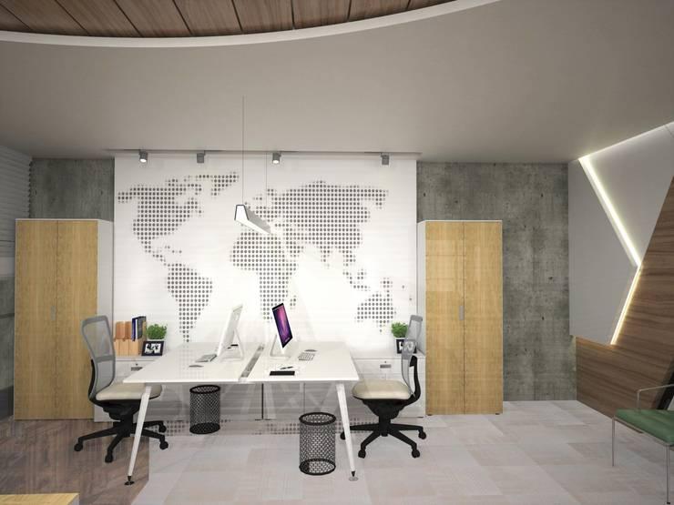 Murat Aksel Architecture – MAQAM OFFİCE:  tarz Çalışma Odası, Modern Ahşap Ahşap rengi