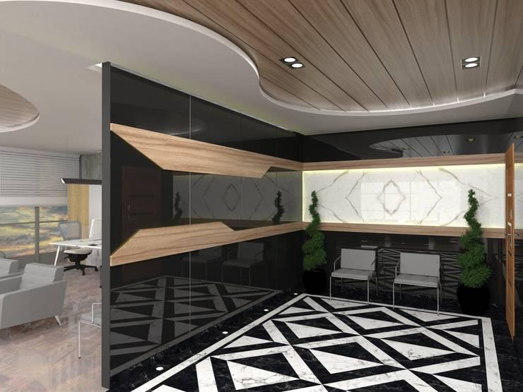 Murat Aksel Architecture – MAQAM OFFİCE:  tarz Çalışma Odası, Modern Mermer