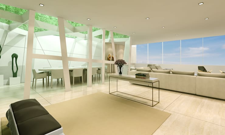 Estudo para  apartamento no Rio de Janeiro: Salas de estar  por GRAU.ZERO Arquitectura