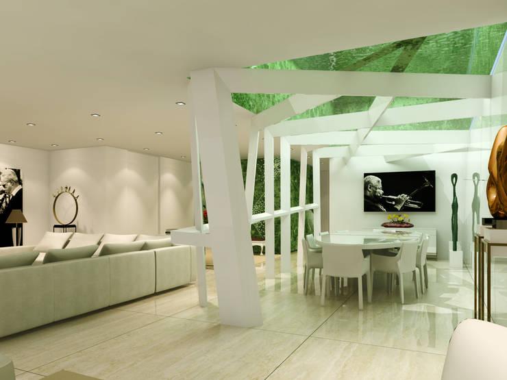 Estudo para  apartamento no Rio de Janeiro: Salas de jantar  por GRAU.ZERO Arquitectura