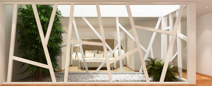 Estudo para  apartamento no Rio de Janeiro: Quartos  por GRAU.ZERO Arquitectura