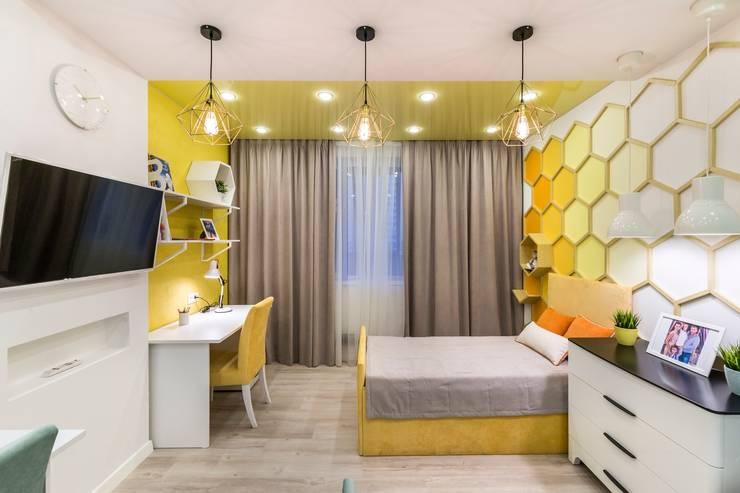 Детская с капелькой мёда: Детские комнаты в . Автор – Школа Ремонта