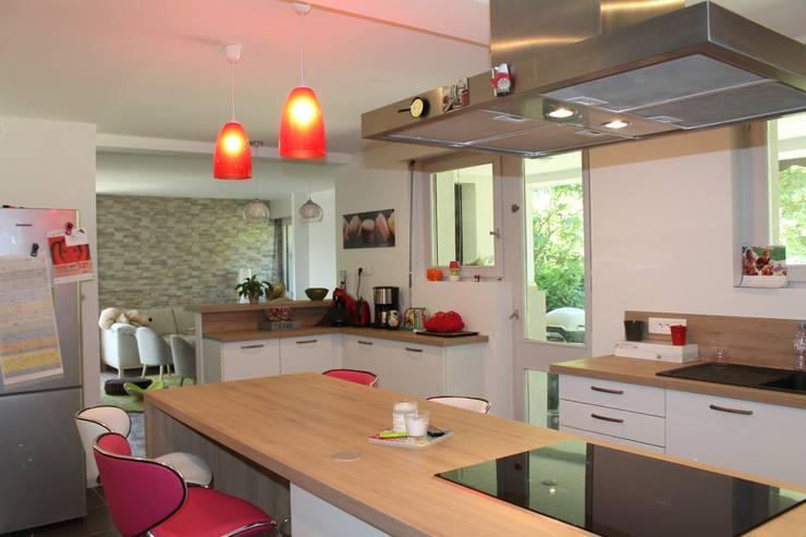 Modern Kitchen by Agence ADI-HOME Modern Wood Wood effect