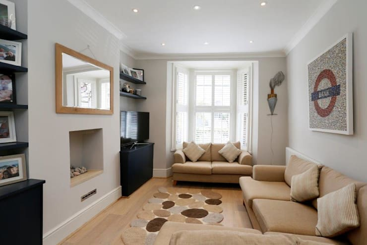 Nightingale Triangle:  Living room by Clara Bee