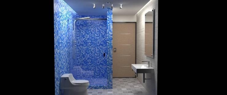 Baño : Baños de estilo  por Atahualpa 3D