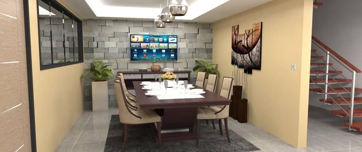 Area de Comedor: Comedores de estilo  por Atahualpa 3D