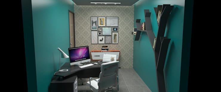 Oficina tipo Estudio: Oficinas de estilo  por Atahualpa 3D