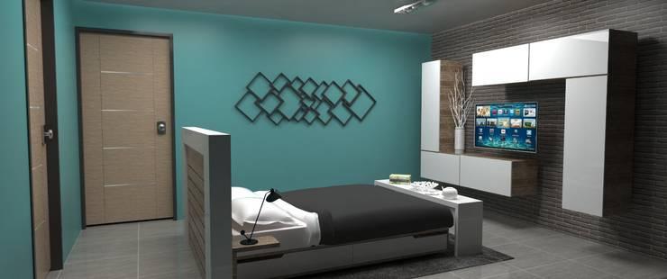 Habitacion Principal: Cuartos de estilo  por Atahualpa 3D