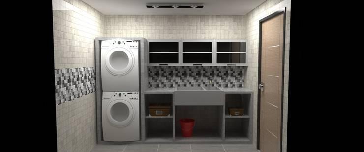 Cuarto de Limpieza y Servicios: Anexos de estilo  por Atahualpa 3D