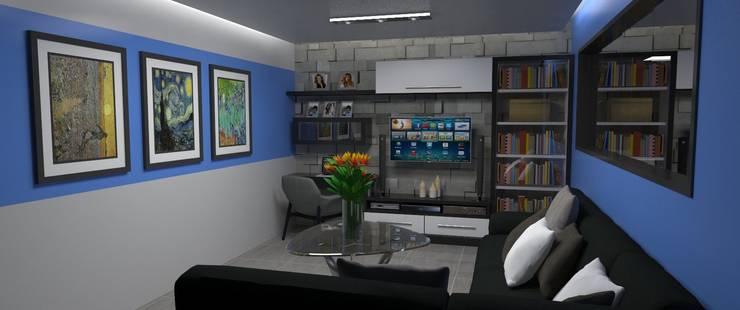 Sala de Estar : Salas / recibidores de estilo  por Atahualpa 3D