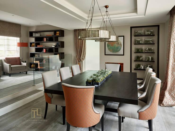 غرفة السفرة تنفيذ Tailored Living Interiors