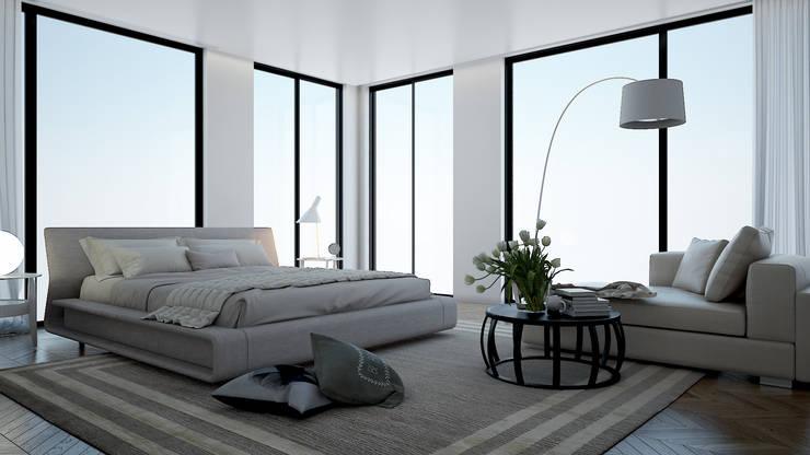 Projekty,  Sypialnia zaprojektowane przez olivia Sciuto
