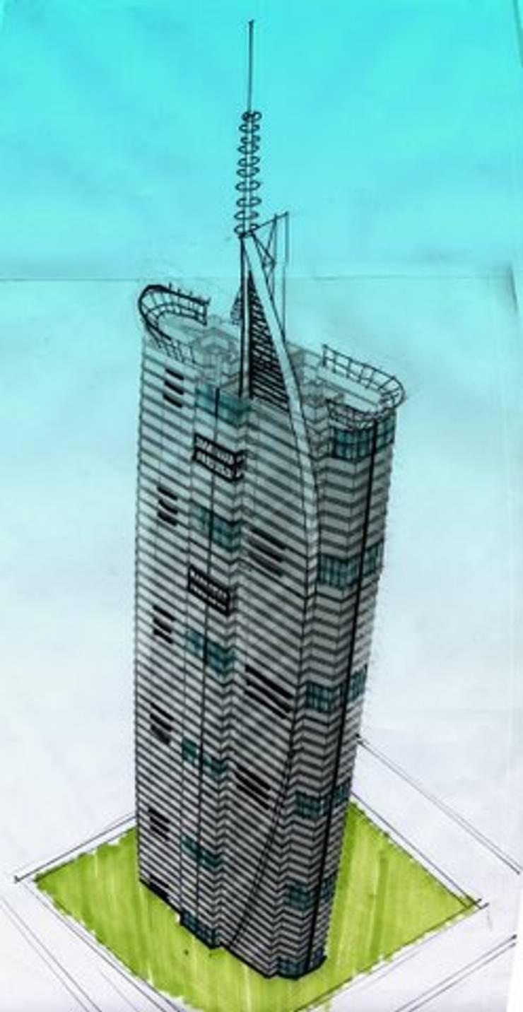 TORRE VISION ALTITTUDE: Estudios y oficinas de estilo  por Diseño Aplicado Avanzado de Guadalajara